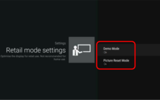 Как на телевизоре Sony убрать демо режим