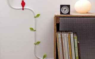 Как красиво спрятать провода от телевизора в интерьере: 10 оригинальных идей с фото