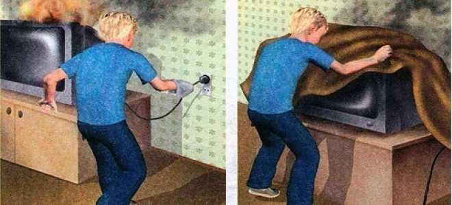 Что делать при возгорании телевизора