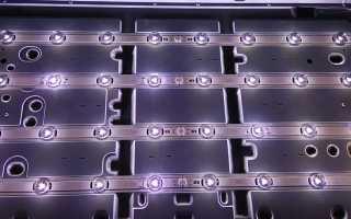 Проверка и замена LED светодиодов в телевизоре