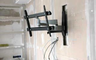 Как закрепить телевизор на гипсокартонной стене