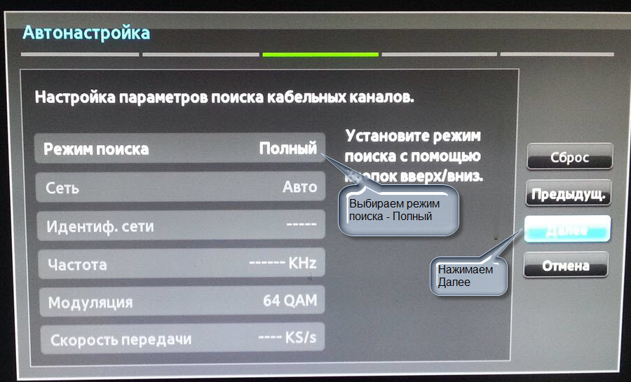 Настройка ТВ каналов
