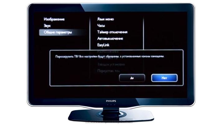 Перезагрузка телевизора