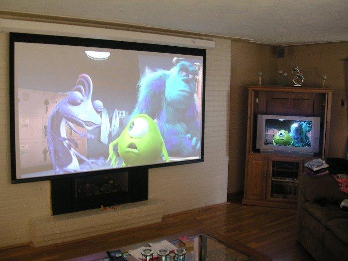 Проектор и телевизор