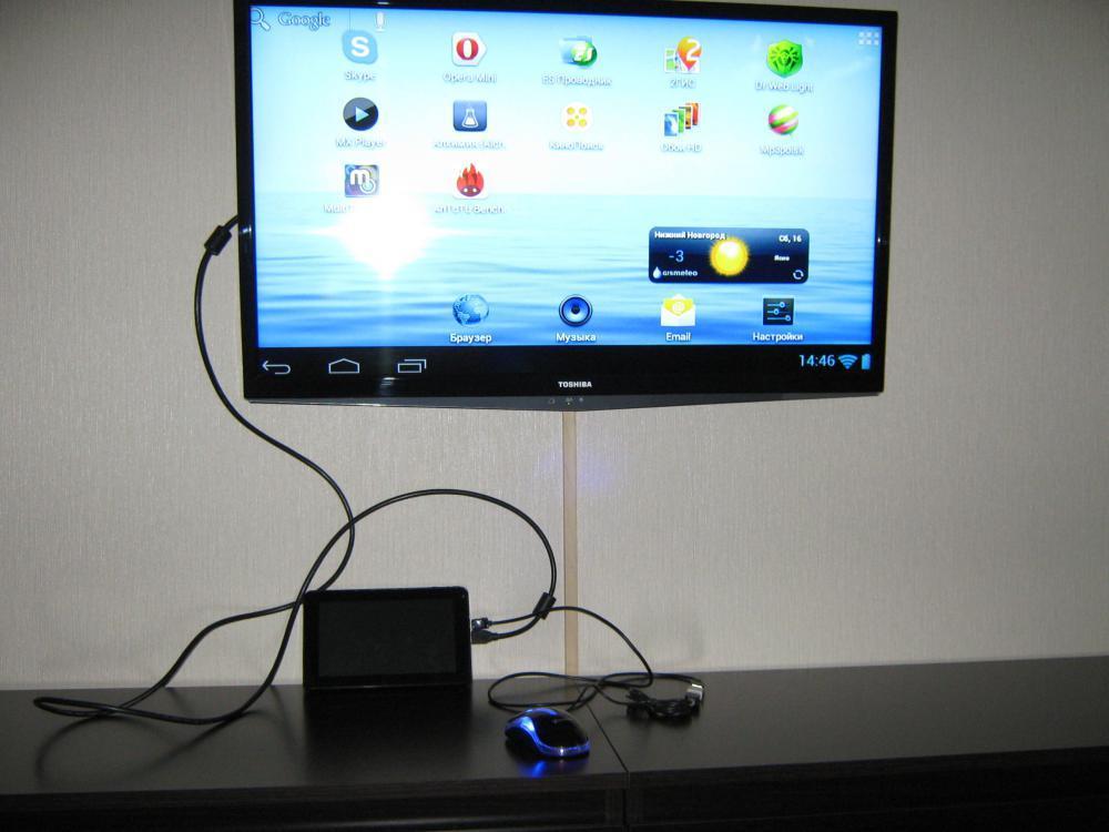 Планшет и телевизор