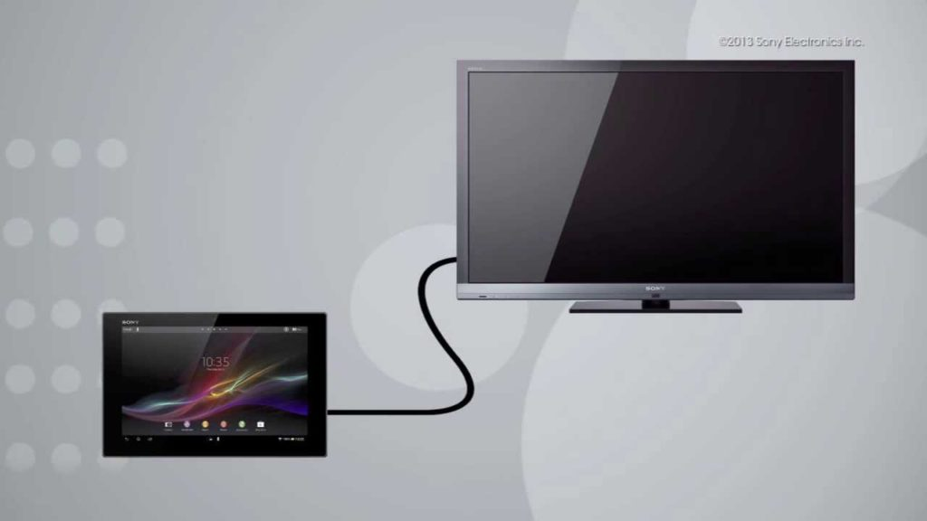 Подключение планшета к ТВ