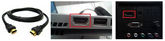 Через HDMI