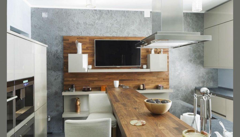 Кухня с тв