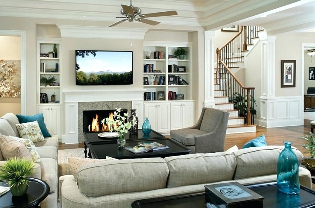 ТВ и камин в квартире